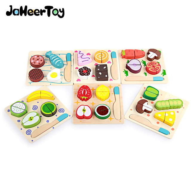 Jaheertoy Kitchen Toys Set Cut Vegetables And Fruits Montessori