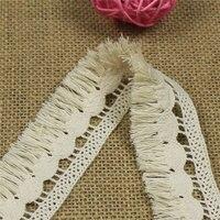 3 5cm 12m Tassel Lace Trim Wedding Dress Ribbon Embroidered Applique DIY Clothing Accessories Sewing Tassel