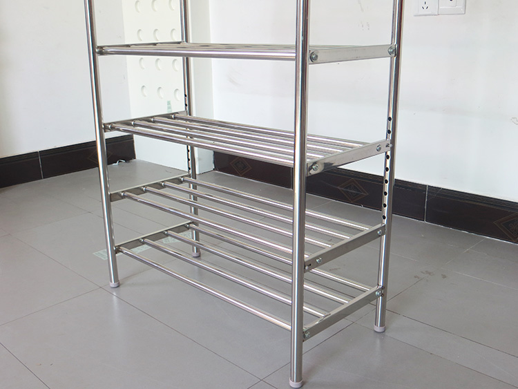 Removable Stainless Steel Long Boots Shoe Rack Multilayer Metal Welding Regulator Storey Living