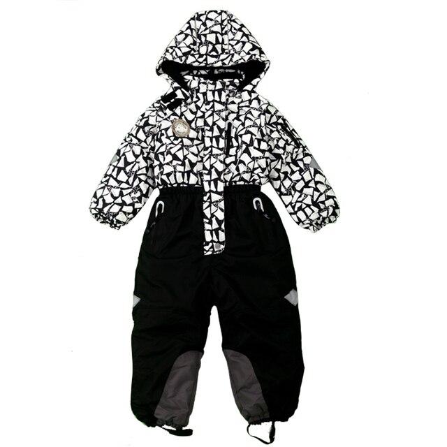 lowest price 34a32 4c034 US $98.9 |Russia inverno tuta da sci per le ragazze di un pezzo tute da sci  per bambini ragazzo del bambino insiemi di neve snowboard tuta tuta ...