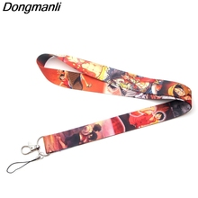 DMLSKY 2 styles One Piece Keychains Lanyard for Keys ID Card Men and Women Cool Monkey D Luffy Lanyards Phone Rope M2461 design id обои wnp wallcovering d and d 65362 2