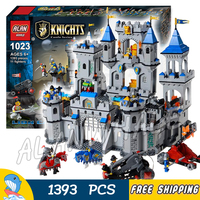 1393pcs Medieval Lion Royal Castle Knights Kingdoms Carriage Dragon Tower Raid Model Building Block Set Toy
