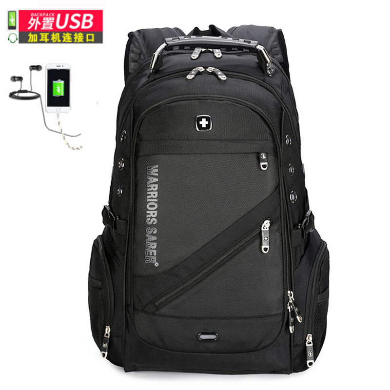 men travel waterproof laptop usb backpack Waterproof red cross 17 inch laptop Backpack Laptop Backpack Sac