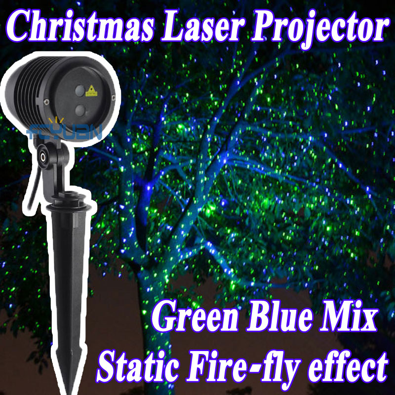 2016 Outdoor Garden Lighting Christmas Shower Laser Lights Projector Holiday Static Effect Waterproof IP65 110v-240v Lawn Light