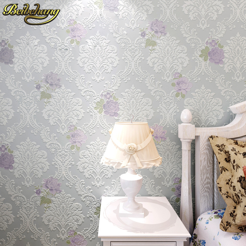 beibehang Modern Luxury 3d wallpaper roll for wall paper flower papel de parede tapete for bedroom living room wall covering beibehang papel de parede 3d dimensional relief korean garden flower bedroom wallpaper shop for living room backdrop wall paper