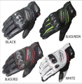 Free shipping New arrival KOMINE GK-167 Carbon Protect Leath Mesh Gloves touchscreen 4 color 3 size