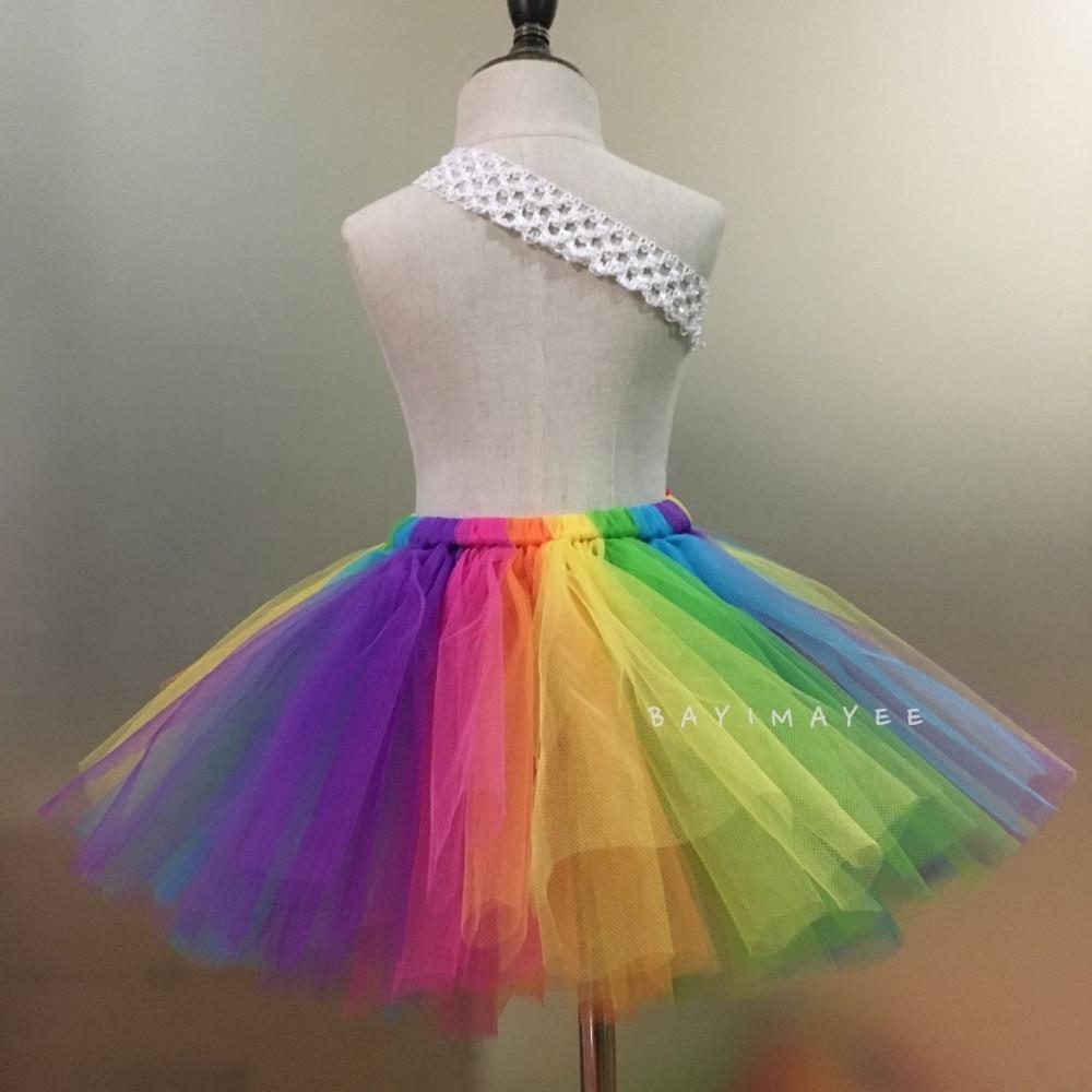 Faldas de tutú con arco iris para bebés Faldas de tul para ballet - Ropa de ninos - foto 2