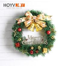 HOYVJOY Merry Christmas Ribbon bell wreath Decorations PVC 30cm Decoration Home New year