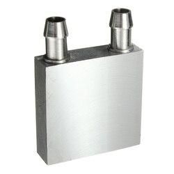Primäre Aluminium Wasser Kühlung Block 40*40mm für Flüssigkeit-Wasser Kühler Kühlkörper System Silber Verwenden Für PC LaptopCPU 80/120/160/200