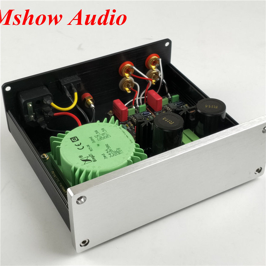 New HIFI audio DUAL circuit turntables MM/MC Finished amplifier for Phono stage finished ct3 tube mm mc phono stage completed set