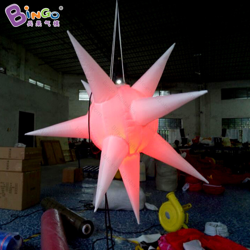 Inflatable Party Decoration Star with LED Changeable Light and Blower