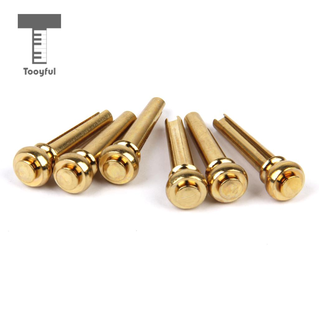 tooyful high quality 6pcs copper endpin bridge end pin for. Black Bedroom Furniture Sets. Home Design Ideas