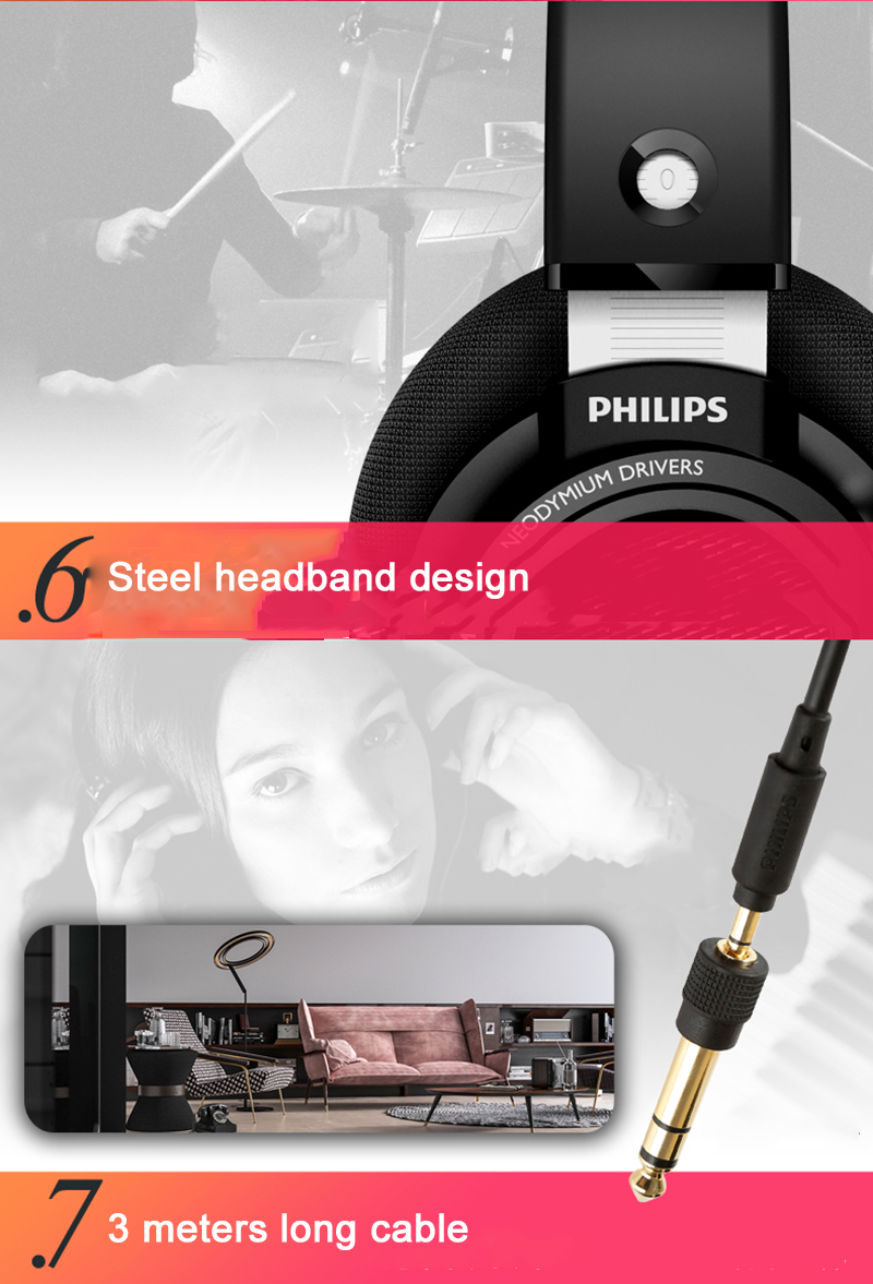 Kilimall: Philips SHP9500 Professional Earphone with 3m Long Wire ...
