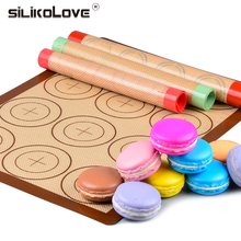 SILIKOLOVE  Silicone Baking Mat Non-Stick Pad Macaron Sheet Bakeware pastry Tools Rolling Dough for