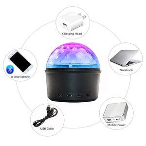 Image 4 - Mini LED Magic Disco Ball Night Light MP3 Bluetooth music player 5V home party stage lighting effect Dance Floor baby sleep lamp
