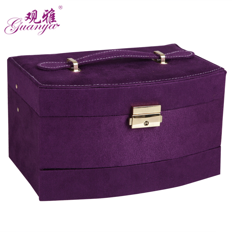 Candy Color Velvet Jewelry Box Jewelry Case Jewelry
