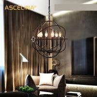 Loft Vintage Pendant Light Industrial pendant lamps American country hanging lamp Creative bedroom bar Decorative light fixture