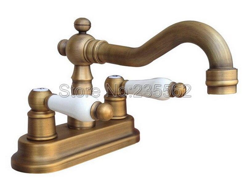 "Delta Porter 4 In Centerset 2 Handle Bathroom Faucet With: 2 Hole Deck Mounted 4"" Centerset Bathroom Faucet Antique"