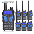 6pcs Zastone ZT-V10 Woki Toki Radio Walkie Talkie Dual Band VHF/UHF 136-174MHz/400-520MHz Portable Two Way HF Transceiver 5W