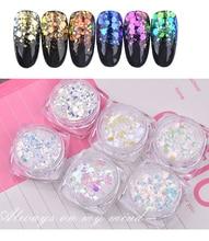 Glitter mix, Aurora, iridescent, hexagonal, nail art, rainbow, resin, epoxy, gift, Christmas jewelry, embellishments, 6 Boxes