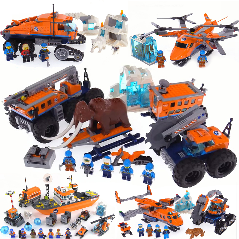 Compatible with legoing City Arctic Snow Base Camp Building Blocks Mini Bricks Figures Model Educational Toys