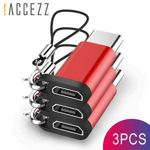 !ACCEZZ Micro USB To Type-C Adapter Converter For Samsung For LG G5 G6 Xiaomi Mi 6 5 4S Charging Data USB OTG Connector Keychain