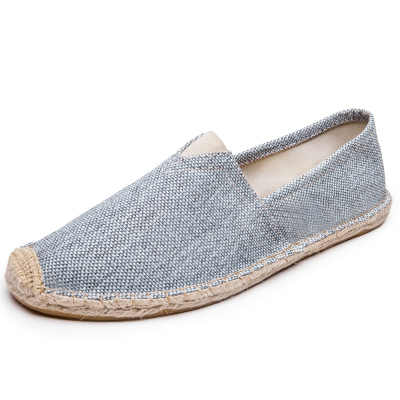 Fashion no sweat Leisure shoes husband birthday Gift Sale,Stylish white/cream Canvas Espadrilles shoes driving shoes black Male