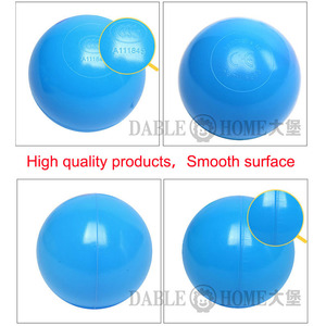 Image 3 - Colors Baby Plastic Balls Water Pool Ocean Wave Ball Kids Swim Pit With Basketball Hoop Play House Outdoors Tents Toy HYQ2