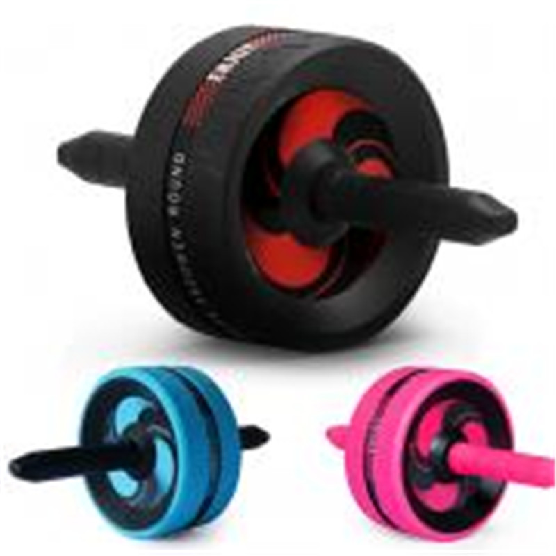 Abdominal Exercise Wheel Exerciser Fitness Workout Gym Roller Great for Arms, Back, Belly Core Trainer Free Knee Pad