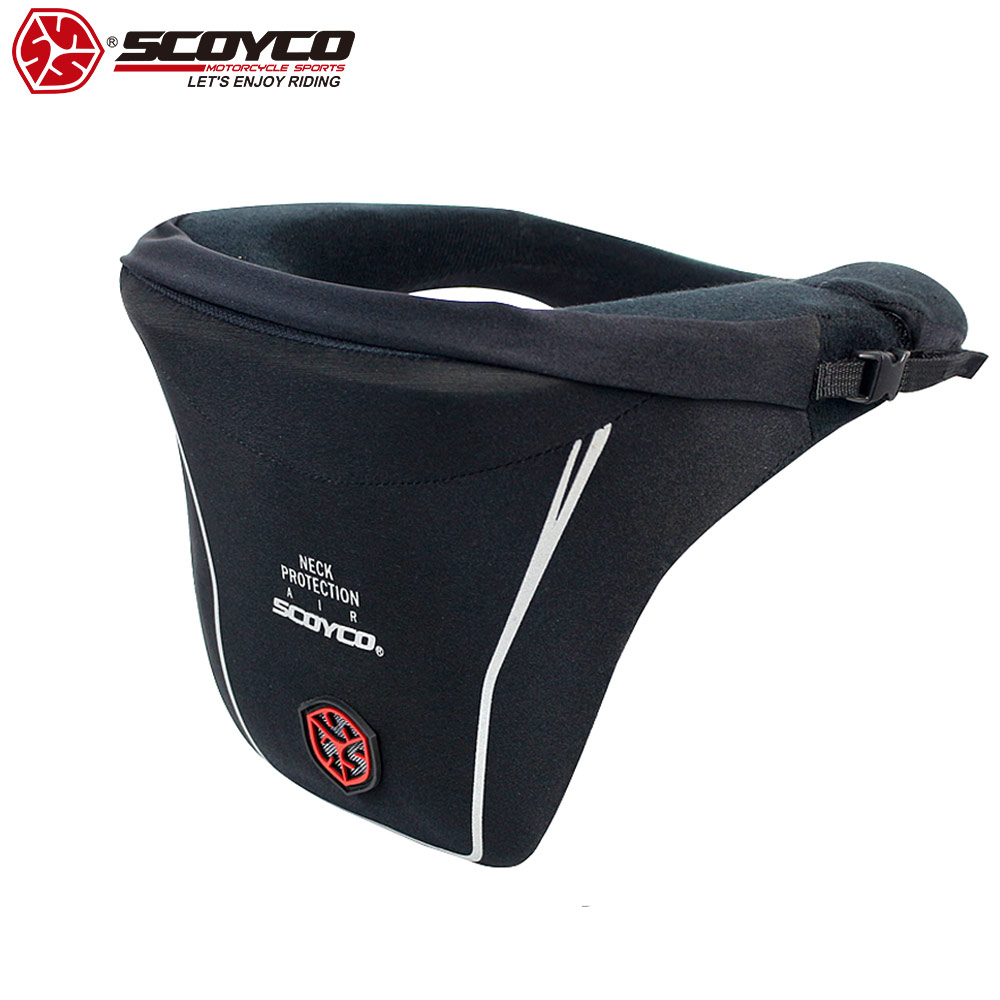 SCOYCO 21 Motorcycle Neck Support Knee Guard Shockproof Protective Safety Motorcycle Neck Protector Motor Gear Equipment