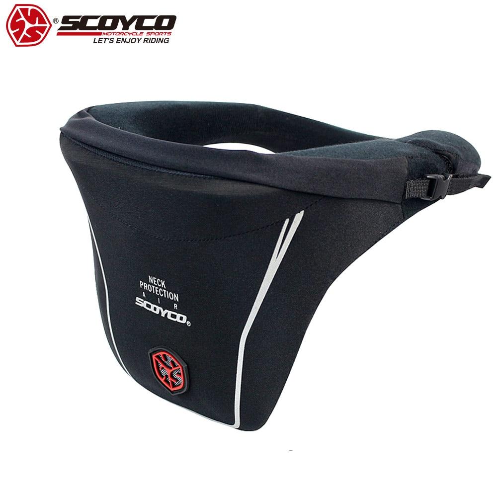 SCOYCO 21 Motorcycle Neck Support Knee Guard Shockproof Protective Safety Motorcycle Neck Protector Motor Gear Equipment