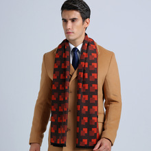New Fashion Cotton Basic Scarves USA England Style Men Business Scarf Casual Tartan Jacquard Scarf YJWD339