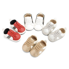 Newborn Baby Shoes Classic Fashion Pu Four-color Casual Boys Soft Infant Toddler