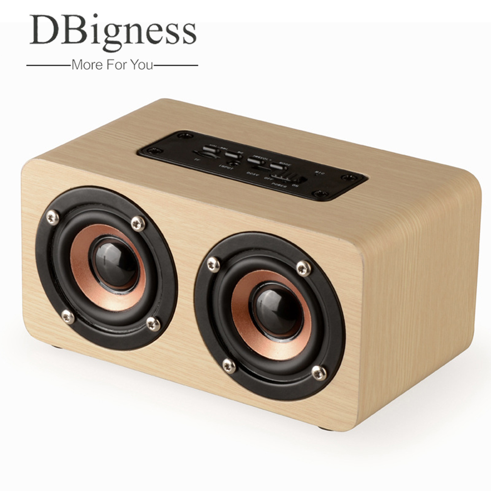 Dbigness Bluetooth Speaker Portable Bluetooth Speaker Wireless Speaker Wooden Speaker Mini Subwoofer Support TF AUX in Handsfree original lker bluetooth speaker wireless stereo mini portable mp3 player audio support handsfree aux in
