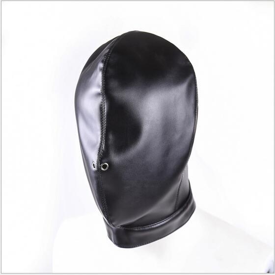 Mjukt PU Läderhuv Mask Huva Bondage Blindfold Sexig Mask För Par - Semester och fester