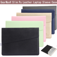 Gearmax Envelope Series 11 6 12 13 3 15 4 Inch Universal Laptop PU Leather Sleeve