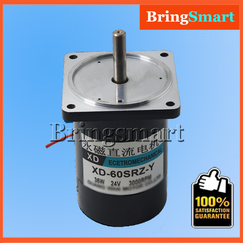 60SRZ-Y 12Volt DC Gear Motor 2000RPM 4000RPM 24V DC Permanent Magnet Motor 36W Adjustable Speed Reversible Electric Engine motor permanent magnet dc motor zytd 60srz f1