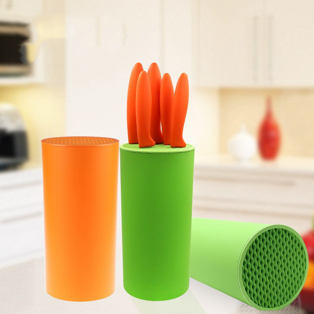 Creative Knife Stand For Kitchen Knives Holder Knife Multifunctional Block Tool Plastic Knife Seat Holder Tube Shelf Chromophous