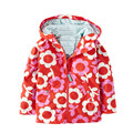 2017 New Autumn Spring girls jackets fashion hooded outerwear for girls 2-6 yrs Flower Paint kids clothing girls outerwear