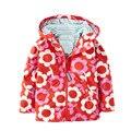2017 Nuevo Otoño Primavera niñas chaquetas con capucha de la moda de abrigo para las niñas 2-6 años Flor Pintura ropa de niños niñas prendas de vestir exteriores