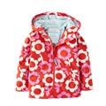 2017 Outono Nova Primavera meninas casacos moda casacos com capuz para meninas 2-6 anos Flor Pintura crianças roupas meninas outerwear