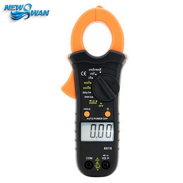 Digital Clamp Meter Multimeter Clamp Ammeter Omnipotent Pocket Mini Capacitor Backlight Instrument VC6018