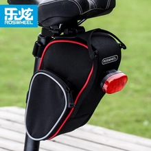 ROSWHEEL 13890 Cycling Tail Bag Folding MTB Mountian Bike Back Saddle Seat Pouch Outdoor Pocket Tools Bag Bicycle Accessories