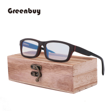 New Classic Retro Sandwich Bamboo and Wood Glasses for Men and Women's Fashion Travel Blue