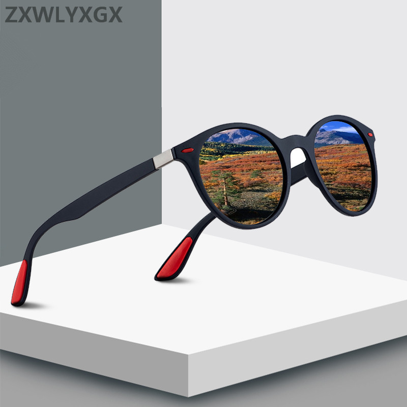 ZXWLYXGX DESIGN Classic Retro Rivet Polarized Sunglasses Men Women TR90 Legs Lighter Design Oval Frame UV400 Gafas De Sol