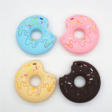 Chengkai 10PCS BPA Free Silicone Donut Cookie Teether DIY Baby Shower Biscuit Pacifier Dummy Pendant Nursing Jewelry Crafts Toy