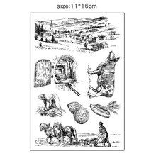 Creative Buffalo farming silicone transparent Clear Stamps for scrapbook DIY Photo album Rubber Stamps wyf842 scrapbook diy photo album account transparent silicone rubber clear stamps 11x16cm how lovely owl autumn is calling