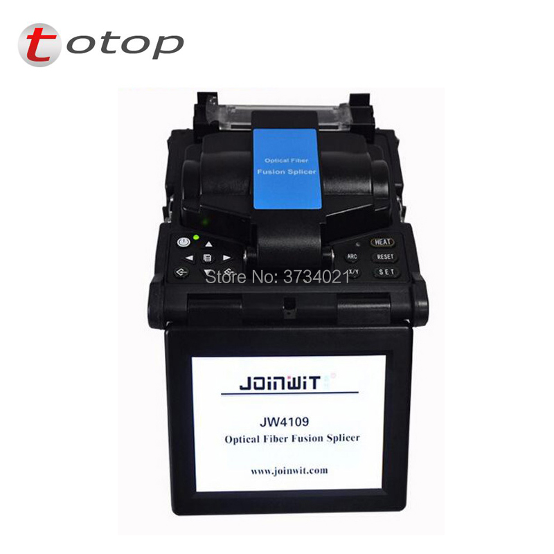 Fusion splicing machine JW4109 Optical Fiber Fusion Splicer Fiber Optic Equipment Fiber ARC Fusion Splicer English menuFusion splicing machine JW4109 Optical Fiber Fusion Splicer Fiber Optic Equipment Fiber ARC Fusion Splicer English menu