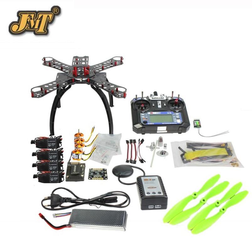 JMT Full Kit DIY GPS Drone RC Fiberglass Frame Multicopter FPV APM2.8 1400KV Motor 30A ESC flysky 2.4GFS-i6 Transmitter diy rc multicopter fpv apm2 8 gps drone x4m310l fiberglass frame kit 1400kv motor xt xinte 30a esc propeller f14891 a