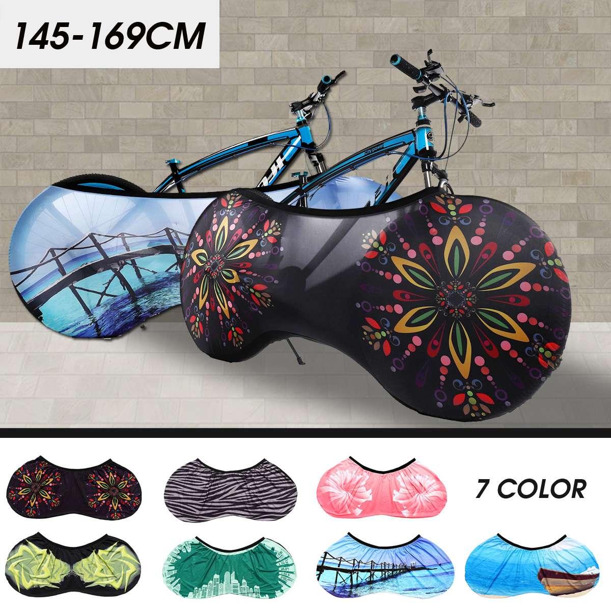139 centímetros a 170 centímetros Preto Ciclismo Bicicleta Traseiro Do Assento Cobertura De Carga Saco de Rack de Bicicleta Proteção Contra Poeira À Prova de Chuva